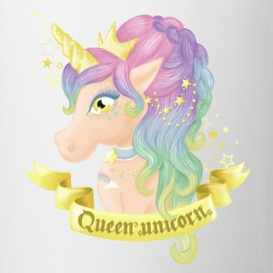 Mug Queen Unicorn - Tasse bicolore