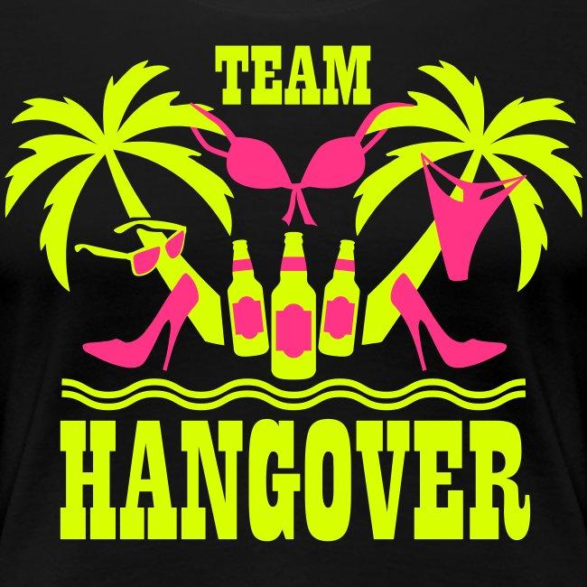 20 Team Hangover Palmen Bier Beach Party T-Shirt