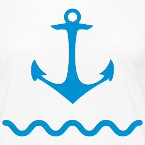 Anchor shaft water sea Kaptän port coastal ship Long Sleeve Shirts - Women's Premium Longsleeve Shirt