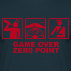 Marine Game over - zero point T-shirts - T-shirt Homme