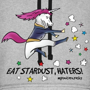 Badass Unicorn kicking ass - eat stardust Hoodies & Sweatshirts - Unisex Baseball Hoodie