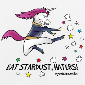 Badass Unicorn kicking ass - eat stardust Bags & Backpacks - EarthPositive Tote Bag