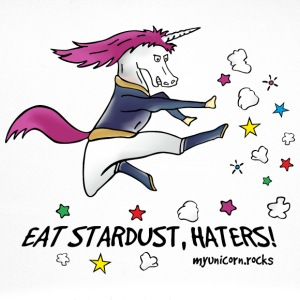 Badass Unicorn kicking ass - eat stardust Caps & luer - Trucker Cap
