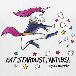 Badass Unicorn kicking ass - eat stardust T-skjorter - T-skjorte med V-utsnitt for kvinner