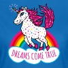 Einhorn Dreams come true Regenbogen T-Shirt - Frauen T-Shirt