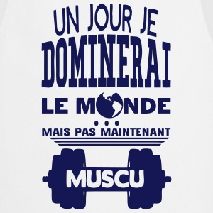 muscu jour dominerai citation monde main Tabliers - Tablier de cuisine