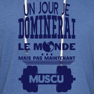 muscu jour dominerai citation monde main Sweat-shirts - Sweat-shirt à capuche léger unisexe