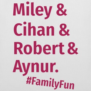 Family Fun Miley Cihan Robert Aynur Namen - Stoffbeutel