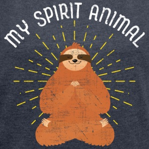 My Spirit Animal | Sloth Meditating T-Shirts - Frauen T-Shirt mit gerollten Ärmeln