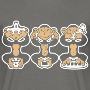 Three geek monkeys - T-shirt Homme