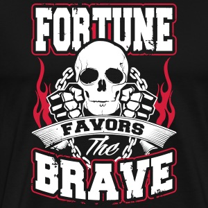 MMA shirt - fortune favors the brave T-Shirts - Men's Premium T-Shirt