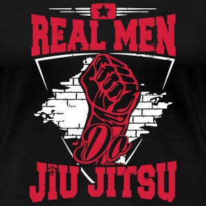 real men do jiu jitsu Camisetas - Camiseta premium mujer