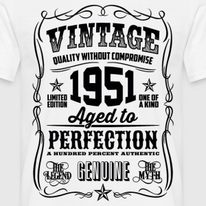 1951 Aged to Perfection Black print - Men's T-Shirt