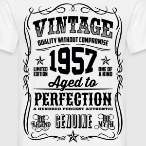 1957 Aged to Perfection Black print - Men's T-Shirt