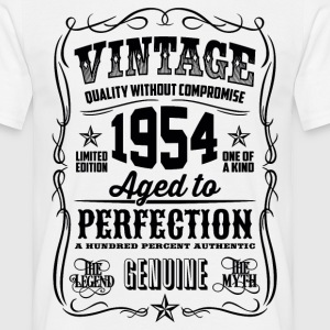1954 Aged to Perfection Black print - Men's T-Shirt