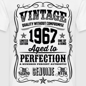 1967 Aged to Perfection Black print - Men's T-Shirt