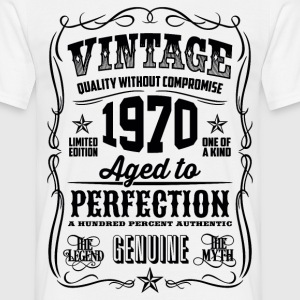 1970 Aged to Perfection Black print - Men's T-Shirt