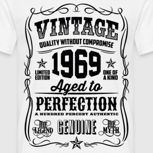 1969 Aged to Perfection Black print - Men's T-Shirt