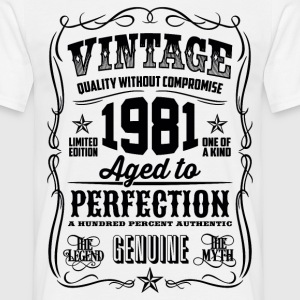 1981 Aged to Perfection Black print - Men's T-Shirt