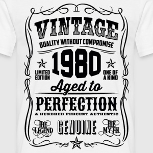 1980 Aged to Perfection Black print - Men's T-Shirt