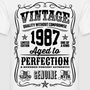 1987 Aged to Perfection Black print - Men's T-Shirt