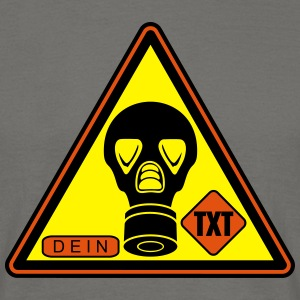 warning gas sticker_vec_3 en T-Shirts - Men's T-Shirt