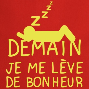 demain leve tot citation icon dort dormi Tabliers - Tablier de cuisine