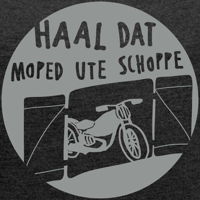 moped - frauen t-shirt mit gerollten ärmeln