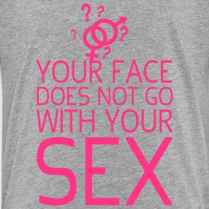 your face does not citation sex   with  Tee shirts - T-shirt Premium Enfant