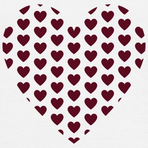 Herat filled with Hearts T-shirts - Herre-T-shirt