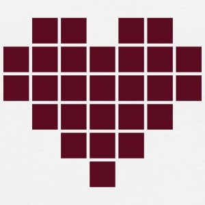 Pixel Heart T-Shirts - Men's T-Shirt