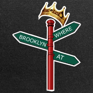 Where Brooklyn At Gorras y gorros - Gorro holgado de tela de jersey