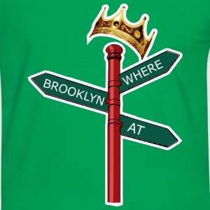 Where Brooklyn At T-shirts - Mannen contrastshirt