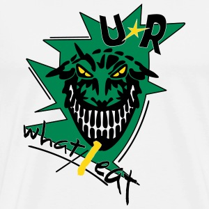 u r what i eat _vec_3 en T-Shirts - Men's Premium T-Shirt