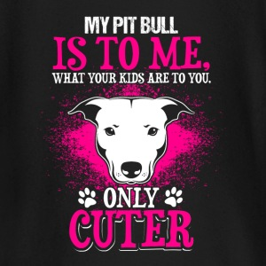 My Pit Bull is cute - EN Baby Long Sleeve Shirts - Baby Long Sleeve T-Shirt