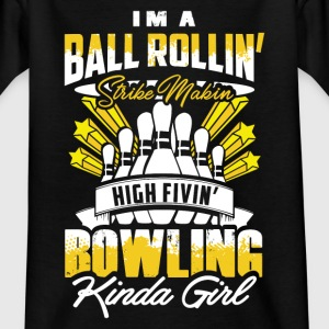 Strike Making Bowling Girl - EN T-Shirts - Kinder T-Shirt