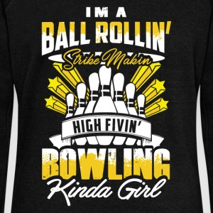 Strike Making Bowling Girl - EN Sweat-shirts - Pull Femme col bateau de Bella
