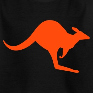 Black Australian Kangaroo Kids' Shirts - Teenage T-shirt