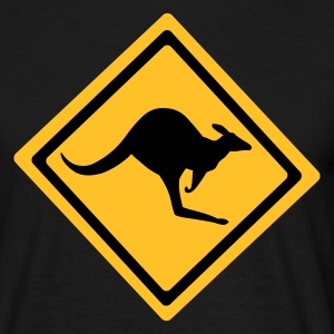 Black Australian Kangaroo Sign Men's T-Shirts - Men's T-Shirt