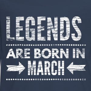 Legends are born in march verjaardags shirt design Shirts met lange mouwen - Teenager Premium shirt met lange mouwen