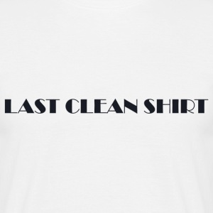 Last Clean Shirt WHITE - T-shirt - Men's T-Shirt