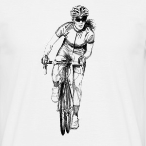 Girl cyclist T-skjorter - T-skjorte for menn
