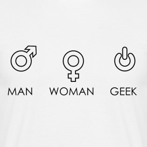 Man Woman Geek - T-Shirt - Men's T-Shirt