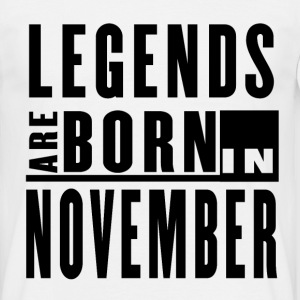 Legends Are Born in November - T-shirt - Men's T-Shirt