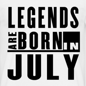 Legends Are Born in July - T-shirt - Men's T-Shirt