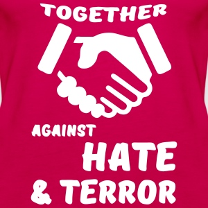 Together against Hate & Terror Tops - Women's Premium Tank Top