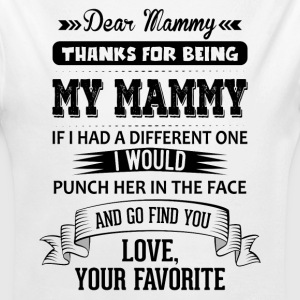 Dear Mammy, Love, Your Favorite  Baby Bodysuits - Longlseeve Baby Bodysuit