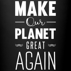 make our planet great again Kopper & tilbehør - Ensfarget kopp