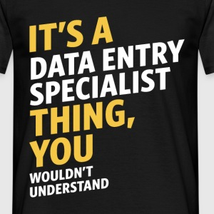 Data Entry Specialist - Men's T-Shirt
