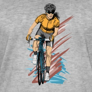Girl cyclist Tee shirts - T-shirt vintage Homme
